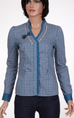 Дамска риза с дълъг ръкав