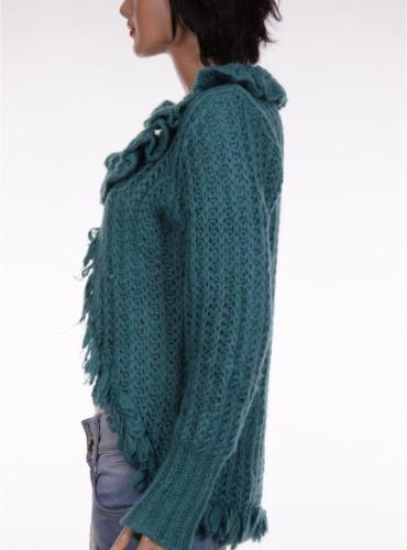 Дамска жилетка с дълъг ръкав