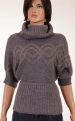 Дамски пуловер с къси ръкави