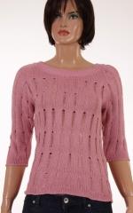 Дамски пуловер с 3/4 ръкави