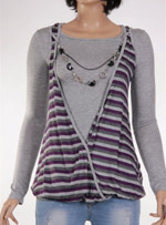 Дамска блуза с дълъг ръкав les petites coquines