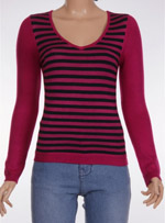 Дамски пуловер с дълъг ръкав