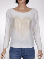 Дамски пуловер с прилеп ръкав PRONTO
